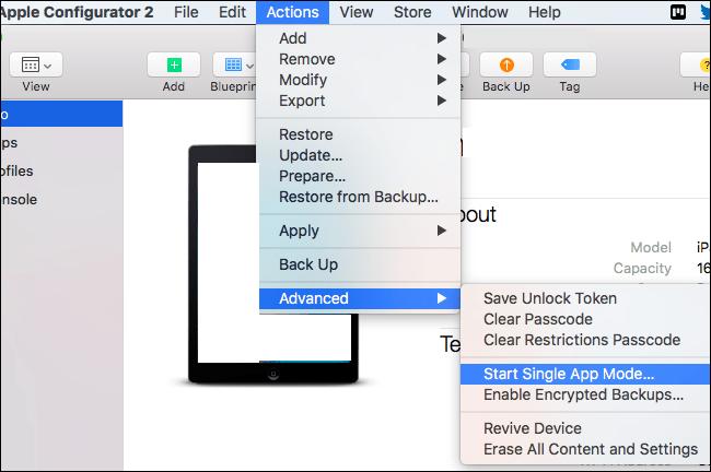 Start Single App Mode