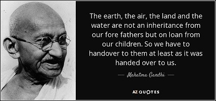 Gandhi quote on environment