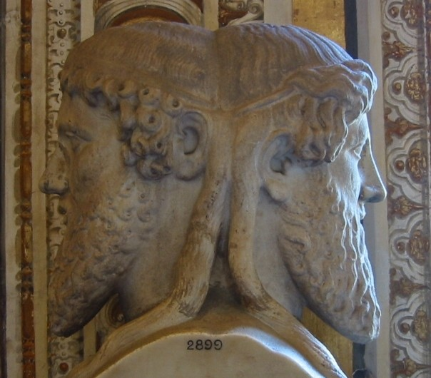 Janus, the two-headed Roman god