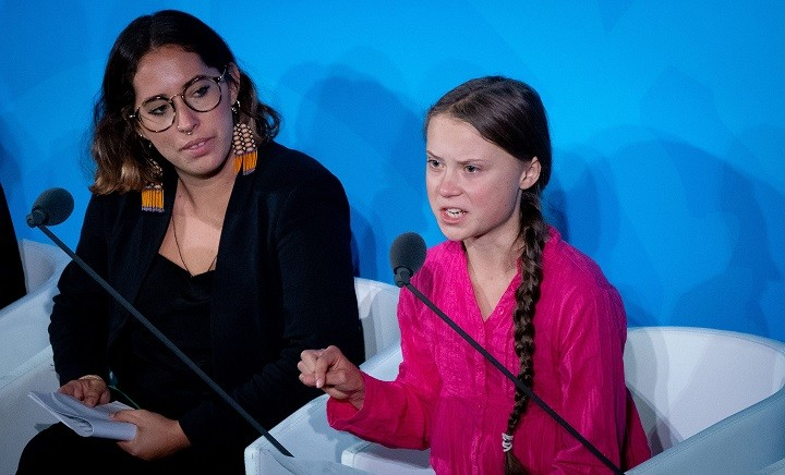 Greta Thunberg at the UN