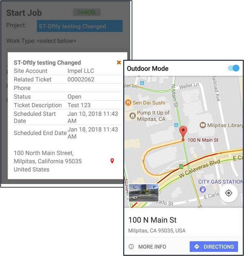 Salesforce address on Google maps