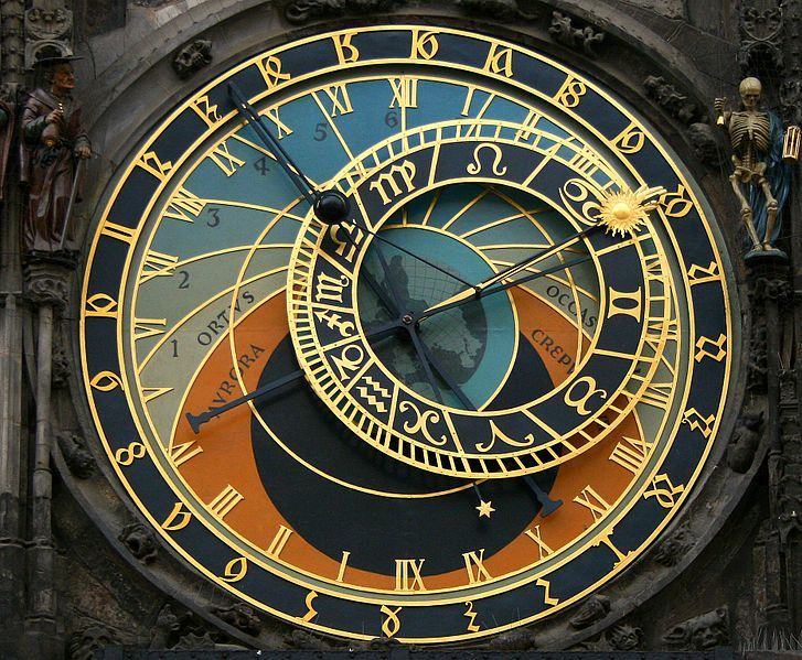 Mechanical clock in Prague